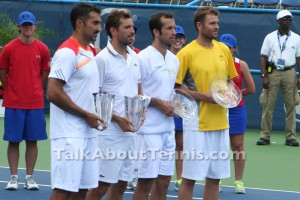 Citi Open men's doubles trophy ceremony. Photo by Mariya Konovalova.