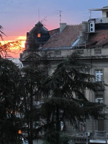 sunset near Terazije