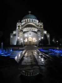 St. Sava at night