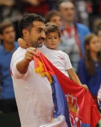 father & son celebrate*