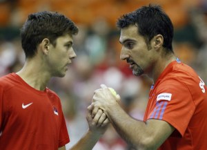 Doubles: Serbia vs Switzerland (photo by Srdjan Stevanović)