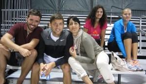 Fellow players Filip Krajinović & Kiki Mladenović showed up to support Lajović.