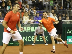 Serbia lost to Argentina 0-3 in the 2015 Davis Cup quarter-finals. Photo: Sergio Llamera.